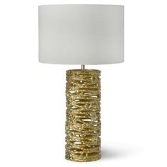 Coil Lamp-Brushed Gold