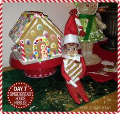 Elf On The Shelf - Day 7:  GingerBread House Nibbles! #ElfOnTheShelf