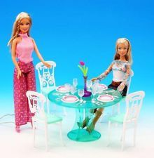 Barbie doll's sweet house Furniture DIY toys- dining table set
