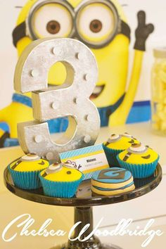 Fun Minion treats at a Despicable Me birthday party! See more party planning ideas at CatchMyParty.com!