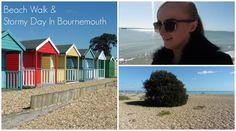 BEACH WALK & STORMY DAY IN BOURNEMOUTH | MoreRetroBombshell
