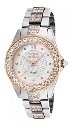 Invicta Women's 16063 Angel Blush Hearts Swiss 4.91ctw Morganite Bezel Rose Gold Accents Watch.  Bringing you the best luxury watches online at the most affordable prices for premium brand name watches: http://www.bestwatches1st.com/#!invicta-angel-watch-collection/kb04e