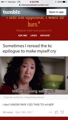 Sometimes you need a good cry. KC epilogue sure does the trick