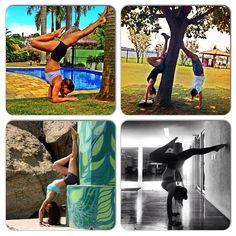 #atitudeboaforma: Top 4 invertidas! @cahpina, @femarcun, @sasouzayoga e @jubasler #boaforma #invertidas #exercicios