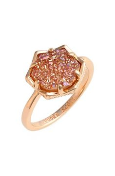 Kendra Scott 'Kylie' Drusy Ring | Rose Gold Champagne