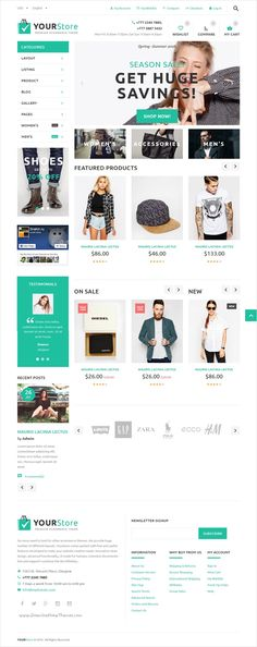 YourStore is modern and professionally design #Bootstrap HTML #template for multipurpose #eCommerce with 12+ stunning homepage layouts download now➩ https://themeforest.net/item/yourstore-html-ecommerce-template/17303809?ref=Datasata