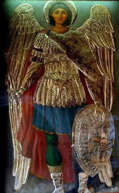 Archangel Michael,in island Lesvos Greece Religious Icons, Religious Art, St Michael, Michael Jackson, Saint Georges, I Believe In Angels, Byzantine Icons, Angel Pictures, Angels Among Us