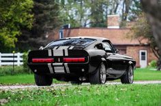 1b 1968 Ford Mustang Rear View