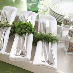 Image result for herbs burlap party ideas