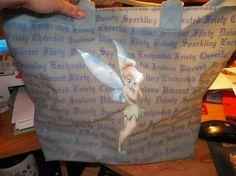 Tinker Bell Vinyl Beach Bag TO CUTE FREE SHIPPING