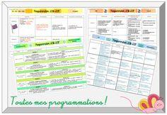 Toutes les programmations pour l'année scolaire 2016/2017 disponibles au format modifiable Professor, Cycle 3, Periodic Table, Teacher, Homeschooling, Periodic Table Chart, Homeschool