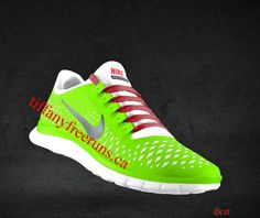 Cheapest Womens Nike Free 3.0 V4 Liquid Lime Reflective Silver White Sport Red Lace Shoes