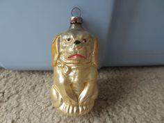 Vintage German Blown Glass Figural Dog Ornament | eBay