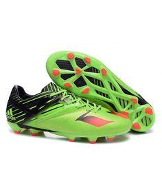 Adidas Messi 15.1 FG Tacchetti Per Terreni Duriscarpe Da Calcio Verde Nero Rosso