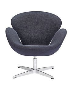 The Swan Style Chair combines design and technology, with sinuous curves, and swivelling bases. This wonderful chair features a molded fibre glass frame, fire retardant polyurethane foam padding, and