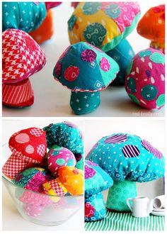 fabric mushroom pattern by red brolly4