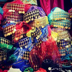 Traditional belly dancer hats @Matt Valk Chuah Grand Bazaar, Istanbul Turkey