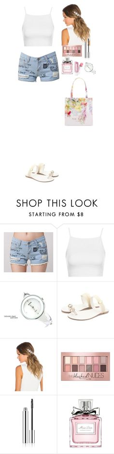 """""""Summer outfit TOMTOP"""" by eliza-redkina ❤ liked on Polyvore featuring Topshop, Lelet NY, Maybelline, Christian Dior, Ted Baker, Summer, outfit, like, look and tomtop"""