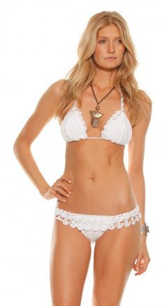 Beauty The Beach Lucky Star Frill Crochet Bikini