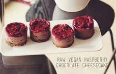 Simply delightful Raw Vegan Raspberry Chocolate Cheesecake! Best served in generous portions! <3