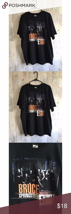 Bruce Springsteen E Street Band Tour Tee Bruce Springsteen E Street Band Tour Tee Size XL All my items come from a smoking household Band Tee Tops Tees - Short Sleeve