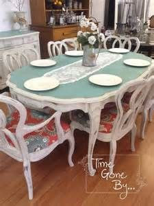 Upbeat makeover for an an antique dining room set