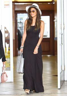 Nicole Scherzinger wearing Hermes Capitales Enamel Bracelet Clic H Hermes narrow bracelet Black Enamel