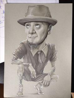 Illustration. J-Ax. Pencil,marker.