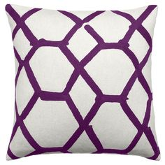 Hand-Embroidered Chain Stitch Pillows: 18x18 :: Jalli :: Judy Ross Textiles