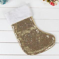 Блесток большой размер Рождественские чулки дети Рождественская Елка Украшения кулон носки Санта-Клаус Конфеты Мешок Рождественский подарок мешок