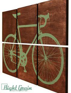Road Bike Screen Print  Large Bicycle Wall Art  door RightGrain