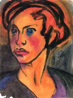 Auburn Hair ~ Emil Nolde | Lone Quixote | #EmilNolde #nolde #expressionism #art…