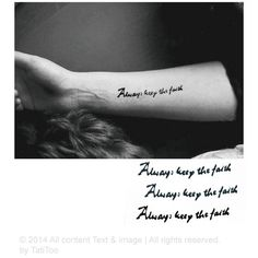 Always keep the faith   Temporary Tattoo T082 by TatiToo on Etsy, $4.99