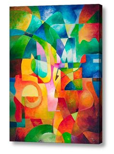 Abstract painting giclee print on canvas from my original