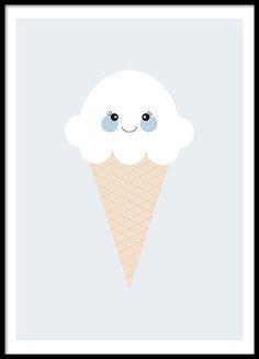 Ice Cream Blue | Kinderposter | www.desenio.de