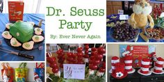 Dr. Seuss Party ideas #food #cake