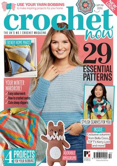 Buy subscriptions and issues of Crochet Now Magazine - Issue Available on Desktop PC or Mac and iOS or Android mobile devices. Crochet Socks, Knit Crochet, Bella Coco, Now Magazine, Cute Sheep, Online Diary, Yarn Inspiration, Crochet Magazine, Trendy Home