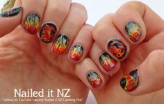 Catching Fire Nail Art, Quotes & Tutorial - Nailed It NZ