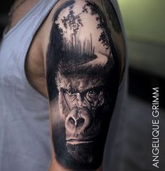 Different tattoos also include various unique meanings for the symbol included. Here listed are some tattoos with meaning. Animal Sleeve Tattoo, Leg Sleeve Tattoo, Forearm Tattoo Men, Chest Tattoo, Monkey Tattoos, Bull Tattoos, Hand Tattoos, Gorilla Tattoo, Gorilla Ink