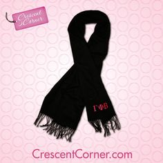 #TrendyThursday! This soft pashmina scarf is the perfect accessory, with or without a coat! Like, pin or share to win all the Crescent Corner items featured in October! #GammaPhiBeta