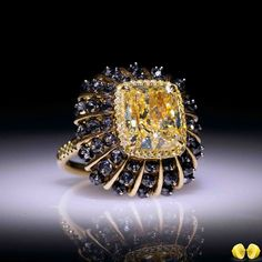 Instagram photo by @novelcollectionasia Cushion Cut marvellous rare fancy yellow diamond set in exquisite design