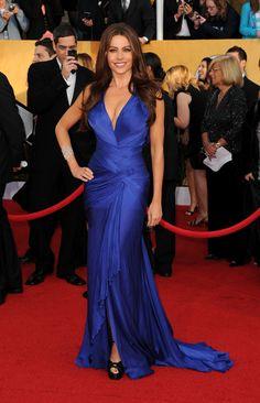 evening blue dress sofia vergara