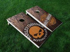 VINYL WRAPS Cornhole Board DECALS Harley Davidson 02 Motorcycle Game Stickers | Sporting Goods, Outdoor Sports, Backyard Games | eBay!