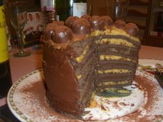 Chocolate cake with layers of salted caramel and mocha fillings! Mmmm!