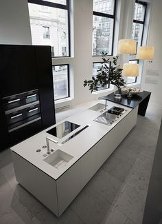 Modern Kitchen - Architecture and Home Decor - Bedroom - Bathroom - Kitchen And Living Room Interior Design Decorating Ideas - Interior Decorating Styles, Interior Styling, Decorating Ideas, Minimalist Architecture, Interior Architecture, Modern Kitchen Design, Interior Design Kitchen, Room Interior, Küchen Design