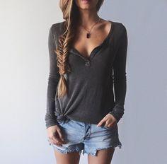 Shirt...braid...denim...