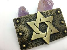AMIEL Belt Buckle Israel IDF Handmade Genuine Leather Jewish Free Shipping