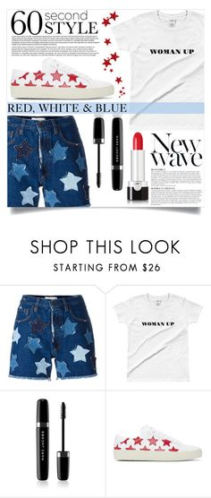 """Red, White & Blue"" by mistressofdarkness ❤ liked on Polyvore featuring Faith Connexion, Marc Jacobs, Yves Saint Laurent and Anja"