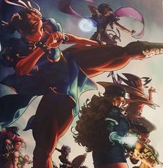 Women of Street Fighter Street Fighter Tekken, Street Fighter Game, Chun Li, Street Fighter Hadouken, Classic Video Games, King Of Fighters, Fighting Games, Video Game Art, Female Characters