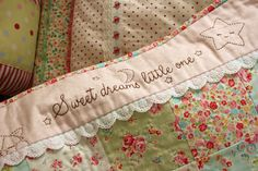 This idea would make a cute baby quilt.